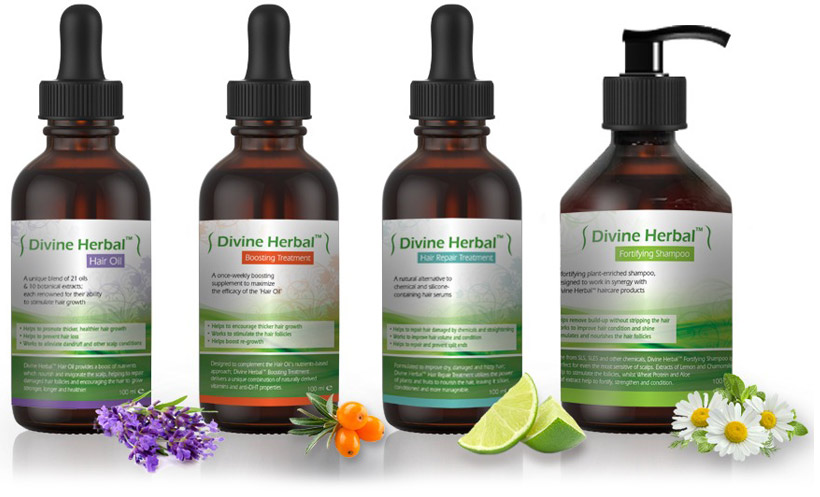 A sample of the Divine Herbal product range